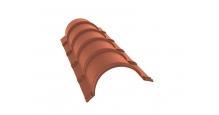 Коньки для кровли из металлочерепицы в Ставрополь Планка конька полукруглого