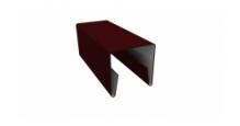 Планки П-образные для забора в цвете RAL 8019 серо-коричневый Grand Line в Ставрополь П-образная заборная 20